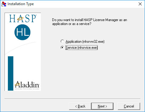Установка HASP License Manager